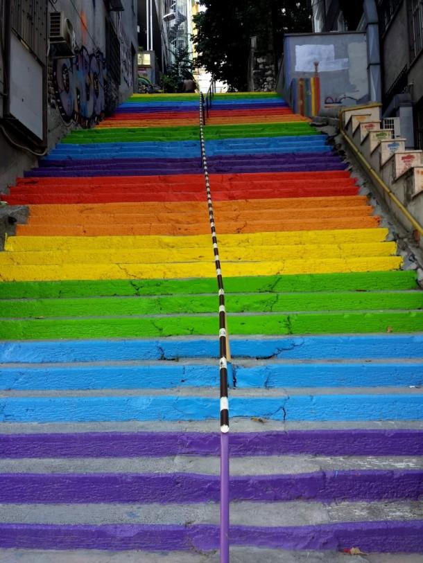 18 gekleurde trap istanbul
