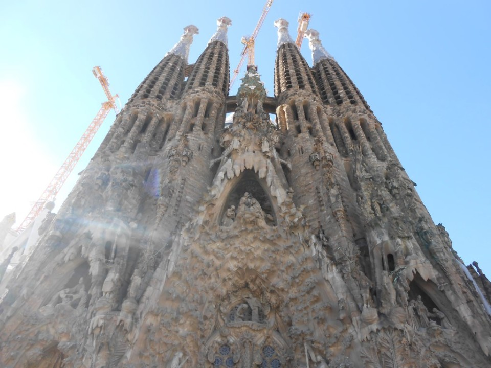 14 outside sagrada familia
