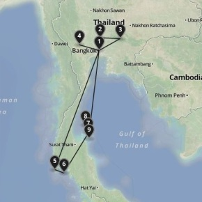 backpacking thailand 2013 map-001